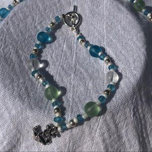 Nautical Anchor Themed Custom Made Bracelet Blue